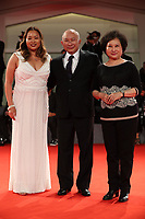 Angels Woo, John Woo and Annie Woo walk the red carpet ahead of the 'Manhunt (Zhuibu)' screening during the 74th Venice Film Festival at Sala Darsena on September 8, 2017 in Venice, Italy. <br /> CAP/GOL<br /> &copy;GOL/Capital Pictures