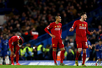 3rd March 2020; Stamford Bridge, London, England; English FA Cup Football, Chelsea versus Liverpool; Dejected Liverpool players after Ross Barkley of Chelsea scores for 2-0 in the 64th minute