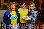 Kathleen Collins, Fiona Kirby and Denise Relihan ready to enjoy their pancakes in the Brogue Inn at the Recovery Haven's Pancake fundraiser on Tuesday.
