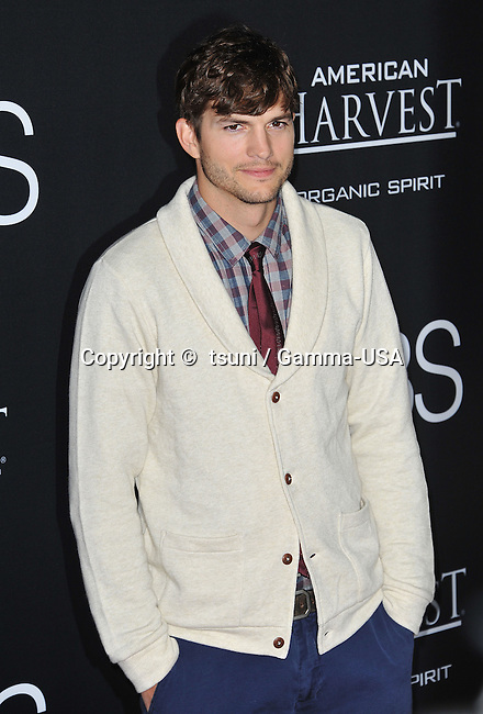 Ashton Kutcher  at The JOBS Premiere at the Regal Theatre In Los Angeles.