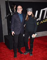 WESTWOOD, CA - FEBRUARY 05: Steve Joyner (L) and Caylah Eddleblute attend the Premiere Of 20th Century Fox's 'Alita: Battle Angel' at Westwood Regency Theater on February 05, 2019 in Los Angeles, California.<br /> CAP/ROT/TM<br /> ©TM/ROT/Capital Pictures