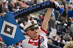 12.05.2018, Volksparkstadion, Hamburg, GER, 1.FBL. Hamburger SV vs Borussia Moenchengladbach,  im Bild   <br /> <br /> HSV FAn mit Raute und Schal <br /> <br /> Foto &copy; nordphoto / Kokenge