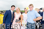 Enjoying Ladies Day at the Listowel Races on Friday were: Thomas Begley, Jackie Begley, Mairead Leane, Jerry Leane from Listowel