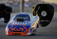 May 18, 2012; Topeka, KS, USA: NHRA top alcohol funny car driver Jay Payne during qualifying for the Summer Nationals at Heartland Park Topeka. Mandatory Credit: Mark J. Rebilas-