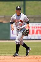 Second baseman Jake Smolinski (11) of the Hagerstown Suns on defense versus the Kannapolis Intimidators at Fieldcrest Cannon Stadium in Kannapolis, NC, Monday May 26, 2008.