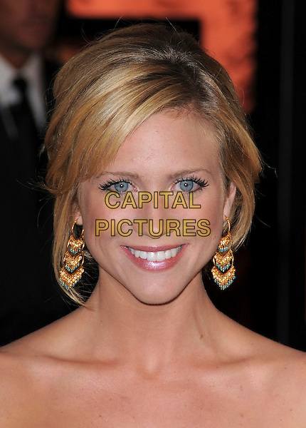 BRITTANY SNOW.At The 13th Annual Critics Choice Awards held at The Santa Monica Convention Center in Santa Monica, California, USA, January 07 2008.                                                                    portrait headshot Britney gold turquoise earrings.CAP/DVS.©Debbie VanStory/Capital Pictures