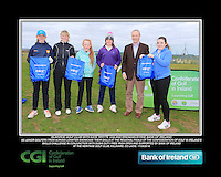 Blainroe Golf Club Girls With Kate Wright CGI and Brendan Byrne Bank of Ireland.<br /> Junior golfers from across Leinster practicing their skills at the regional finals of the Dubai Duty Free Irish Open Skills Challenge supported by Bank of Ireland at the Heritage Golf Club, Killinard, Co Laois. 2/04/2016.<br /> Picture: Golffile | Fran Caffrey<br /> <br /> <br /> All photo usage must carry mandatory copyright credit (© Golffile | Fran Caffrey)