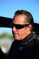 Oct. 27, 2012; Las Vegas, NV, USA: NHRA funny car driver Jeff Diehl during qualifying for the Big O Tires Nationals at The Strip in Las Vegas. Mandatory Credit: Mark J. Rebilas-