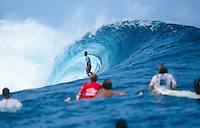 Manoa Drollet (PYF) surfing Teahupoo circa 1999. .photo:  joliphotos.com