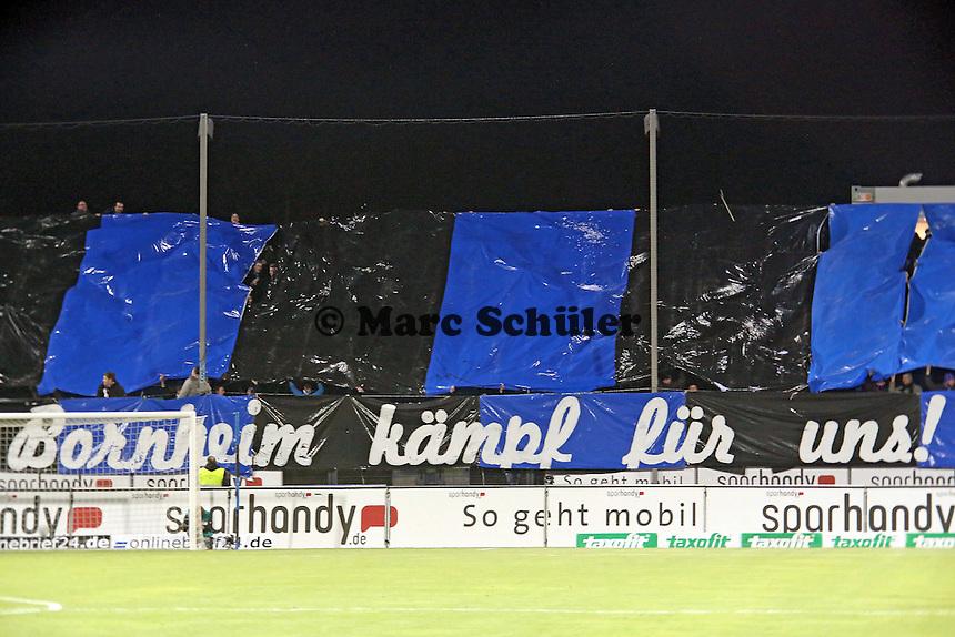 Fans des FSV Frankfurt fordern einen Sieg- FSV Frankfurt vs. Arminia Bielefeld, Frankfurter Volksbank Stadion