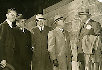 1940 October 26..Historical...Left to Right.Cox.Lewis.Kaufman.Straus.Windholz...NEG#.NRHA# 451..