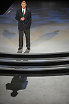 Ford CEO Alan Mulally speaks at the Lincoln presentation at the Detroit Auto Show in Detroit, Michigan on January 12, 2009.