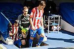 Atletico de Madrid's Jan Oblak and Gabriel &ldquo;Gabi&rdquo; Fern&aacute;ndez during La Liga match between Real Madrid and Atletico de Madrid at Santiago Bernabeu Stadium in Madrid, April 08, 2017. Spain.<br /> (ALTERPHOTOS/BorjaB.Hojas)