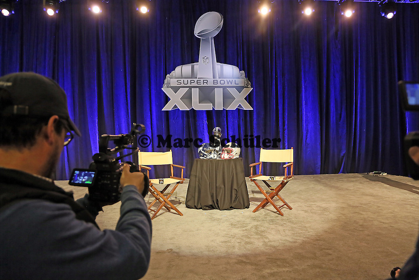 Super Bowl im Fokus der Medien - Gemeinsame Team Pressekonferenz Super Bowl XLIX, Convention Center Phoenix