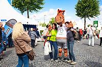 Karli poses for photos with fans during the Deutsche Bank Preis Großber Dressurpreis von Aachen - Grand Prix Kür CDIO. 2017 GER-CHIO Aachen Weltfest des Pferdesports. Sunday 23 July. Copyright Photo: Libby Law Photography