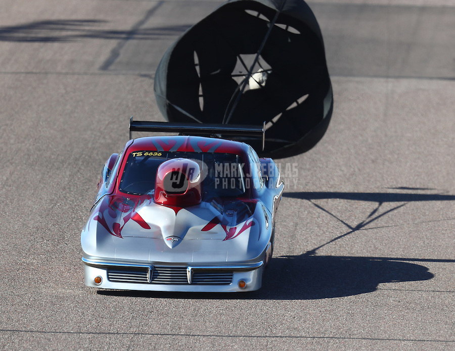 Feb 24, 2017; Chandler, AZ, USA; NHRA top sportsman driver Ray Martin during qualifying for the Arizona Nationals at Wild Horse Pass Motorsports Park. Mandatory Credit: Mark J. Rebilas-USA TODAY Sports