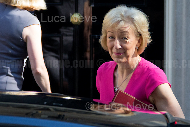 Andrea Leadsom MP (Secretary of State for Environment, Food and Rural Affairs).<br /> <br /> London, 19/07/2016. First Cabinet meeting at 10 Downing Street (after the EU Referendum and consequent David Cameron's resignation) for the new Prime Minister Theresa May and her newly formed Conservative Government.<br /> <br /> For more information about the Cabinet Ministers: https://www.gov.uk/government/ministers