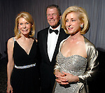 Frances and Peter Marzio with Ann Bookout at the Silver Ball at the Museum of Fine Arts Friday Oct. 10,2008. (Dave Rossman/For the Chronicle)
