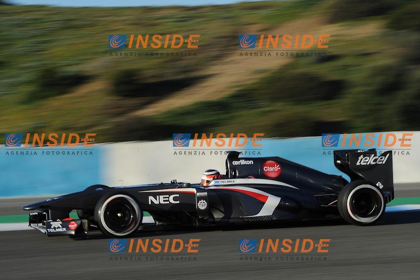 formula 1: Test  Jerez 05/02/2013.NICO HULKENBERG(GER) - SAUBER C32 - ACTION ...Foto Insidefoto / ITALY ONLY