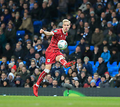 9th January 2018, Etihad Stadium, Manchester, England; Carabao Cup football, semi-final, 1st leg, Manchester City versus Bristol City; Hordur Magnusson of Bristol City crosses the ball into the penalty area