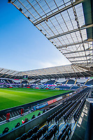 General View of the Stadium inside portrait <br /> Re: Behind the Scenes Photographs at the Liberty Stadium ahead of and during the Premier League match between Swansea City and Bournemouth at the Liberty Stadium, Swansea, Wales, UK. Saturday 25 November 2017