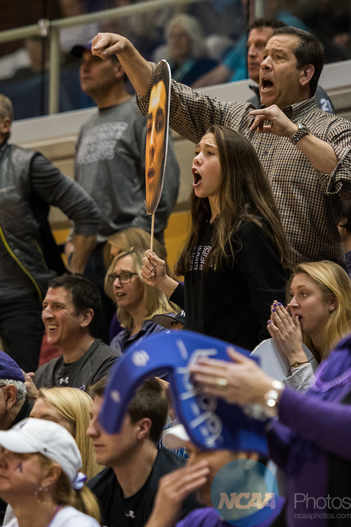 GRAND RAPIDS, MI - MARCH 18: Amherst College fans get loud during the Division III Women's Basketball Championship held at Van Noord Arena on March 18, 2017 in Grand Rapids, Michigan. Amherst College defeated Tufts University 52-29 for the national title. (Photo by Brady Kenniston/NCAA Photos via Getty Images)