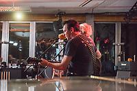 Die Punk-Band Slime spielte am Dienstag den 27. September 2017 in der Dachlounge des Berliner Radiosender &quot;radio1&quot;. Anlass war das Erscheinen der Platte &quot;Hier und jetzt&quot; am 29. September 2017.<br /> 27.9.2017, Berlin<br /> Copyright: Christian-Ditsch.de<br /> [Inhaltsveraendernde Manipulation des Fotos nur nach ausdruecklicher Genehmigung des Fotografen. Vereinbarungen ueber Abtretung von Persoenlichkeitsrechten/Model Release der abgebildeten Person/Personen liegen nicht vor. NO MODEL RELEASE! Nur fuer Redaktionelle Zwecke. Don't publish without copyright Christian-Ditsch.de, Veroeffentlichung nur mit Fotografennennung, sowie gegen Honorar, MwSt. und Beleg. Konto: I N G - D i B a, IBAN DE58500105175400192269, BIC INGDDEFFXXX, Kontakt: post@christian-ditsch.de<br /> Bei der Bearbeitung der Dateiinformationen darf die Urheberkennzeichnung in den EXIF- und  IPTC-Daten nicht entfernt werden, diese sind in digitalen Medien nach &sect;95c UrhG rechtlich geschuetzt. Der Urhebervermerk wird gemaess &sect;13 UrhG verlangt.]