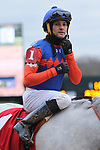 January 24, 2020: Jockey Orlando Mojica after winning 7th race at Oaklawn Racing Casino Resort in Hot Springs, Arkansas on January 24, 2020. Justin Manning/Eclipse Sportswire/CSM