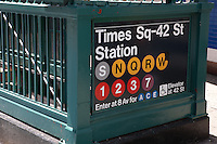 Entrance to the Times Square - 42nd Street subway Station in New York City