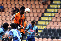 Simeon Akinola of Barnet  gets in a header during Barnet vs Wycombe Wanderers, Friendly Match Football at the Hive Stadium on 13th July 2019
