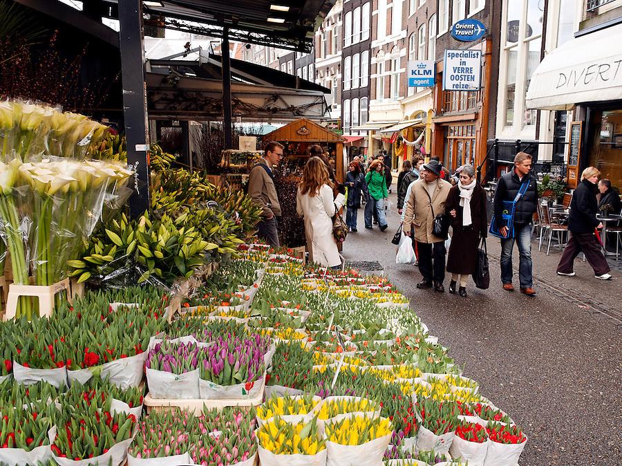 Flower vendor, Floating Flower Market, Amsterdam, Netherlands