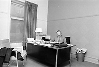 MONTREAL, CANADA -  File Photo - Parti Quebecois Leader Rene Levesque  at his Montreal office in  March 1973