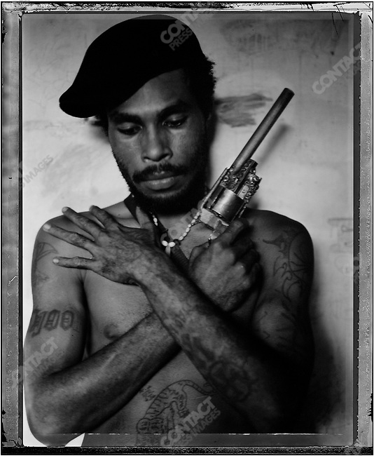 """""""Omsy,"""" Raskols, gangs of Port Moresby, Papua New Guinea, January 2004"""