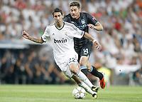 Real Madrid's Angel Di Maria against Manchester City's Javi Garcia during Champions League match. September 18, 2012. (ALTERPHOTOS/Alvaro Hernandez). /NortePhoto.com<br /> <br /> **CREDITO*OBLIGATORIO** *No*Venta*A*Terceros*<br /> *No*Sale*So*third* ***No*Se*Permite*Hacer Archivo***No*Sale*So*third<br /> <br /> <br /> **CREDITO*OBLIGATORIO** *No*Venta*A*Terceros*<br /> *No*Sale*So*third* ***No*Se*Permite*Hacer Archivo***No*Sale*So*third