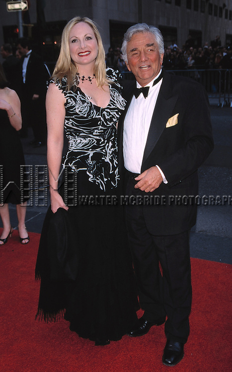 Peter Falk with his daughter at the 2002 NBC 75th Anniversary in New York City.