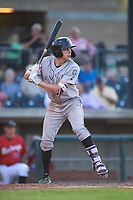 Grand Junction Rockies Christian Koss (36) at bat during a Pioneer League game against the Grand Junction Rockies at Dehler Park on August 15, 2019 in Billings, Montana. Billings defeated Grand Junction 11-2. (Zachary Lucy/Four Seam Images)