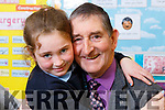 Lexi O'Connor from Ballyseedy, Tralee gives her grandad  Joe O'Connor a big hug at the Grandparent day in O'Breannain NS on Tuesday.