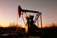 Petroleum Industry; oil; production; well; pumpjack;. Houston Texas.
