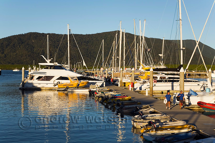Boats moored at Marlin Marina.  Cairns, Queensland, Australia