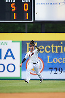 Binghamton Mets right fielder Stefan Sabol (2) during a game against the Trenton Thunder on May 29, 2016 at NYSEG Stadium in Binghamton, New York.  Trenton defeated Binghamton 2-0.  (Mike Janes/Four Seam Images)