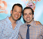 John Tartaglia and Rob McClure attends the 'Avenue Q' - 15th Anniversary Performance Celebration at Novotel on July 31, 2018 in New York City.