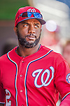 7 September 2014: Washington Nationals outfielder Denard Span walks the dugout prior to a game against the Philadelphia Phillies at Nationals Park in Washington, DC. The Nationals defeated the Phillies 3-2 to salvage the final game of their 3-game series. Mandatory Credit: Ed Wolfstein Photo *** RAW (NEF) Image File Available ***