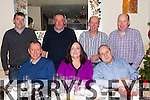 Old friends from Rathmore catching up for a Christmas reunion in Lord Kenmare's restaurant Killarney on Saturday night were front row l-r: Todd Falvey, Debra Fitzgerald and Michael Reen. Back: Anthony O'Mahony, Mike O'Mahony, Paul O'Donoghue, William O'Dowd