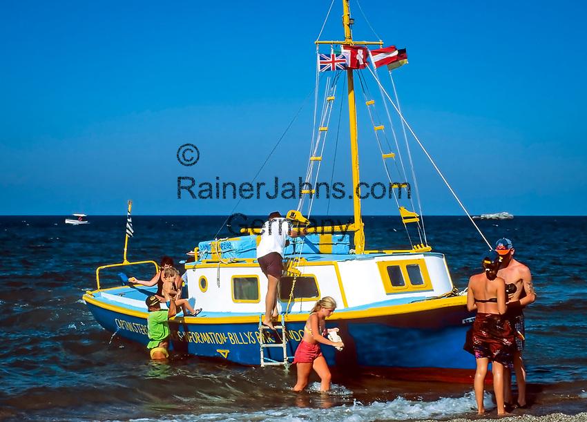 Griechenland, Dodekanes, Rhodos, Vliha Bay: Tagestour mit dem Ausflugsboot   Greece, Dodekanes, Rhodes, Vliha Bay: boat trip