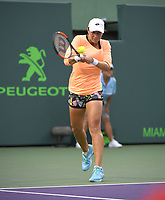 www.acepixs.com<br /> <br /> March 23 2017, Key Biscayne<br /> <br /> Varvari Lepchenko of USA in action against Caroline Wozniacki of Denmark at Crandon Park Tennis Center on March 23, 2017 in Key Biscayne, Florida.<br /> <br /> By Line: Solar/ACE Pictures<br /> <br /> ACE Pictures Inc<br /> Tel: 6467670430<br /> Email: info@acepixs.com<br /> www.acepixs.com