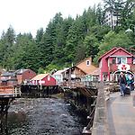 Creek Street shops, built on stilts over the salmon run, in Ketchikan, Alaska