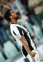 Calcio, Serie A: Juventus vs Fiorentina. Torino, Juventus Stadium, 20 agosto 2016.<br /> Juventus&rsquo; Sami Khedira celebrates after scoring during the Italian Serie A football match between Juventus and Fiorentina at Turin's Juventus Stadium, 20 August 2016.<br /> UPDATE IMAGES PRESS/Isabella Bonotto