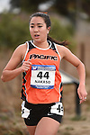 November 1, 2014; Sunnyvale, CA, USA; Pacific Tigers runner Lauren Nakaso (44) competes during the WCC Cross Country Championships at Baylands Park.