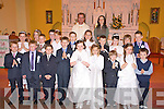 Children from Cullina National School, Beaufort who received their First Holy Communion in St Marys parish church, Beaufort pictured with their teacher Lisa O'Sullivan and Fr Donal O'Connor.