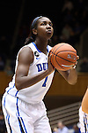 02 January 2014: Duke's Elizabeth Williams. The Duke University Blue Devils played the Old Dominion University Lady Monarchs in an NCAA Division I women's basketball game at Cameron Indoor Stadium in Durham, North Carolina. Duke won the game 87-63.
